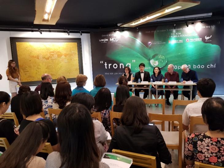 많은 베트남과 국제 예술인들  '투명(Trong)' 콘서트에서 공연 - ảnh 1