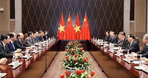 Nguyen Xuan Phuc총리, 중국 국가 주석, 총서기장 회견 - ảnh 2