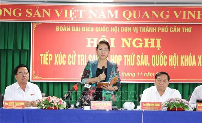 베트남 공산당 및 정부 지도자, 국회 회의 후 선거인 접촉 - ảnh 1