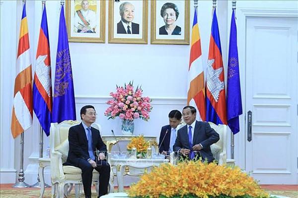 캄보디아 총리, 국가통신망 안전감시센터 설립에 베트남 지지 기대 - ảnh 1