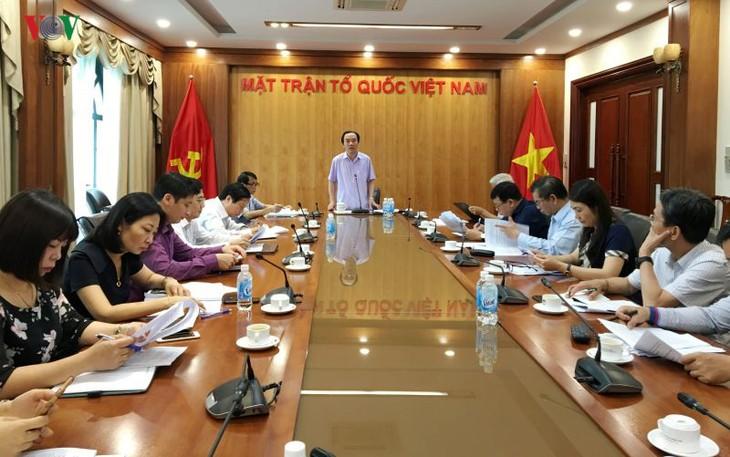 베트남 조국전선위원회, 부정부패 방지 강화 - ảnh 1
