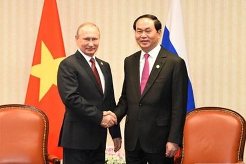 Tran Dai Quang termine sa visite en Biélorussie et part pour la Russie - ảnh 1