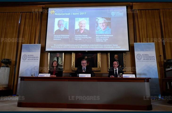Prix Nobel: avant la paix, le Nobel de chimie 2017 connu - ảnh 1