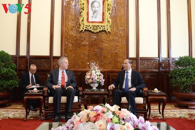 Tran Dai Quang reçoit l'ambassadeur des Etats-Unis - ảnh 1