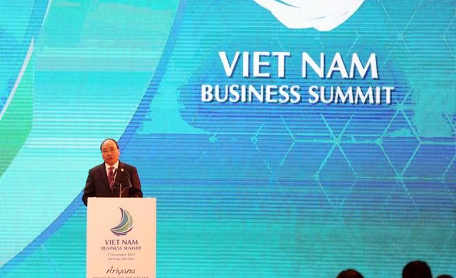 Ouverture du sommet d''affaires du Vietnam 2017 - ảnh 1