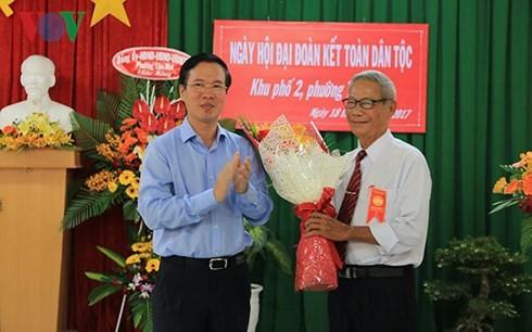 Vo Van Thuong à une fête de une grande union nationale à Dong Nai - ảnh 1