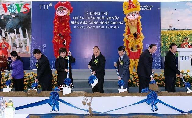 Le PM Nguyen Xuan Phuc travaille avec les autorités de Ha Giang - ảnh 1