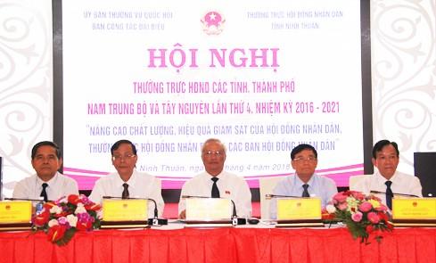Réunion du conseil populaire des 12 villes et provinces du Centre méridional et du Tây Nguyên - ảnh 1