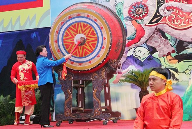 Nguyên Thi Kim Ngân à la fête de Ba Triêu - ảnh 1