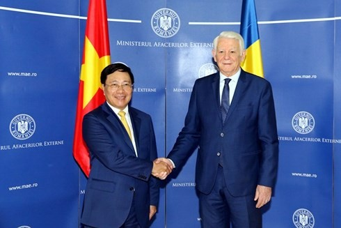 Pham Binh Minh en visite en Roumanie - ảnh 2