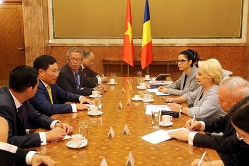 Pham Binh Minh en visite en Roumanie - ảnh 3