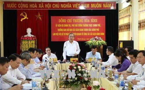 Truong Hoà Binh en déplacement à Tuyên Quang - ảnh 1