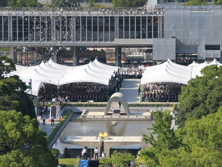 73 ans après, Hiroshima se souvient du bombardement atomique - ảnh 1