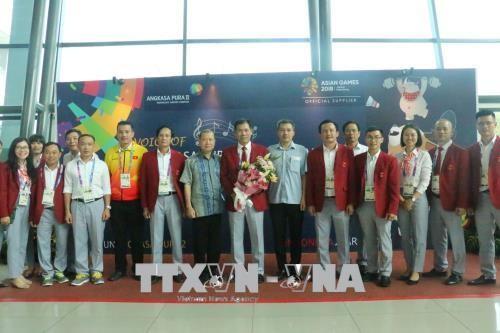ASIAD 2018: la délégation vietnamienne est arrivée en Indonésie - ảnh 1
