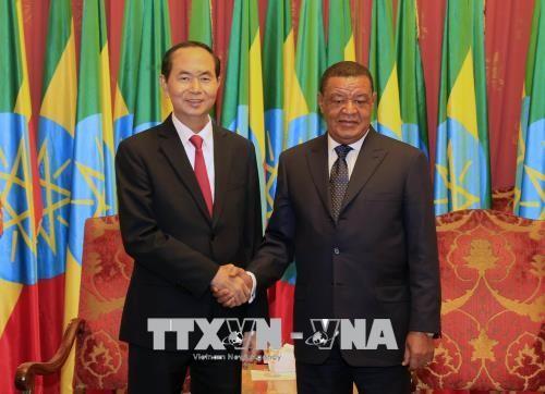 Trân Dai Quang termine sa visite en Ethiopie - ảnh 1