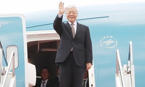 Nguyên Phu Trong termine sa visite en Russie et part pour la Hongrie - ảnh 1