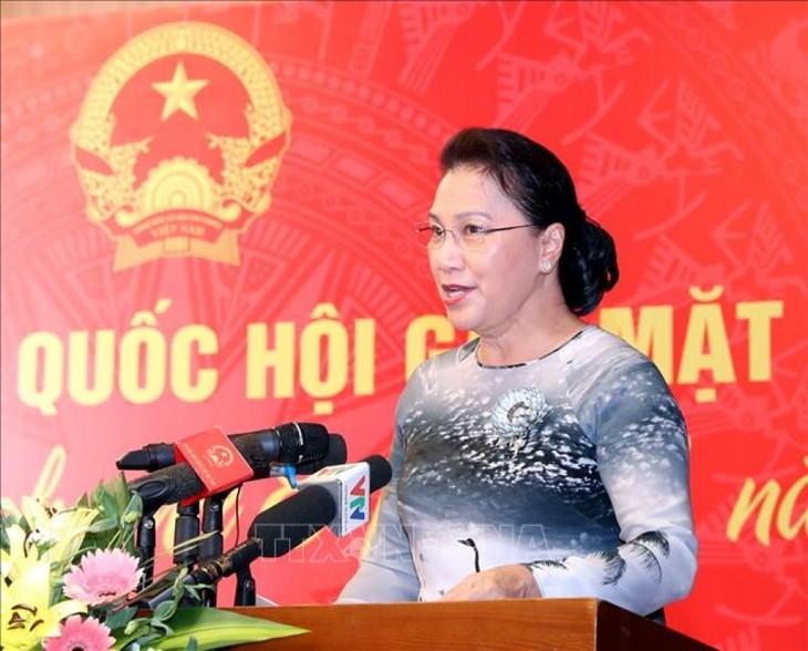 Rencontre entre parlementaires vietnamiennes et officielles étrangères - ảnh 1