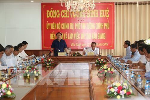 Vuong Dinh Huê: Hâu Giang devrait devenir une province développée dans les cinq années à venir - ảnh 1