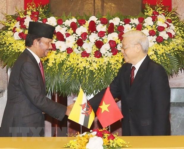 Entretien Nguyên Phú Trong – Haji Hassanal Bolkiah - ảnh 1