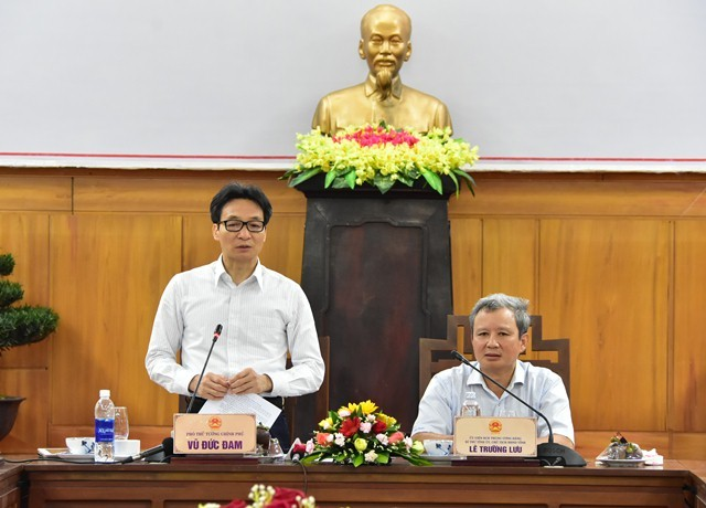 Vu Duc Dam à Thua Thiên Huê pour parler développement culturel   - ảnh 1