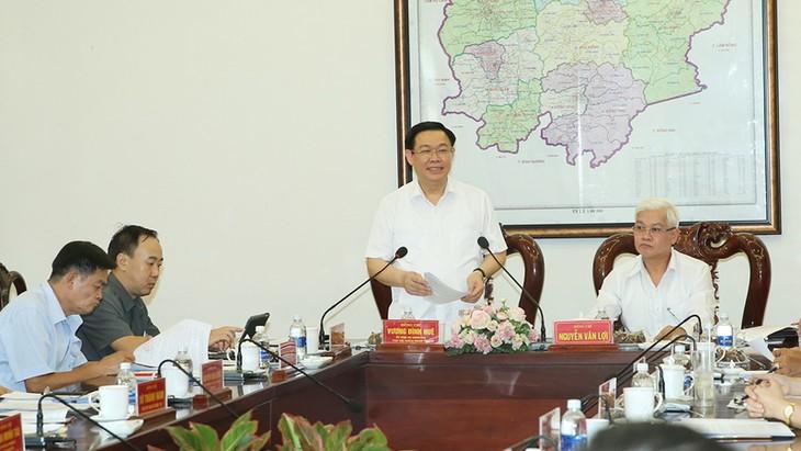 Vuong Dình Huê travaille avec les autorités de Bình Phuoc (sud) - ảnh 1