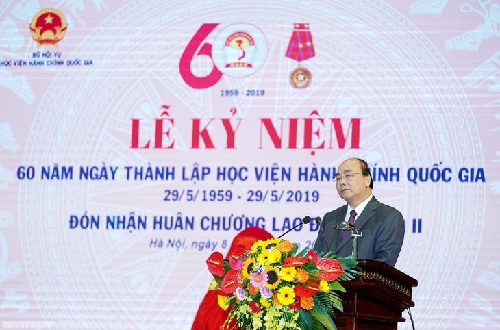 Nguyên Xuân Phuc au 60e anniversaire de l'Académie nationale de l'administration publique - ảnh 1