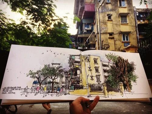 Les dessinateurs urbains de Hanoï - ảnh 3