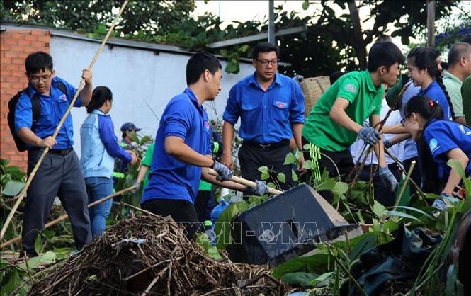 Les jeunes participent à la protection de l'environnement et à l'adaptation au changement climatique - ảnh 1