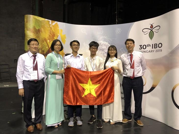 Olympiades internationales de biologie: tous les quatre Vietnamiens primés - ảnh 1