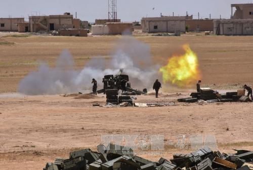 Сирийская армия отбила у террористов ИГ город Мескена - ảnh 1