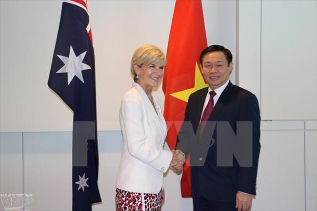 Выонг Динь Хюэ провел рабочую встречу с министром иностранных дел Австралии - ảnh 1
