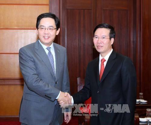 В Ханое состоялся приём, посвящённый 68-й годовщине со Дня образования КНР - ảnh 1