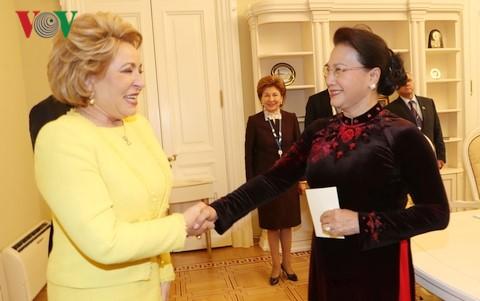 Нгуен Тхи Ким Нган встретилась с председателем Совета Федерации РФ   - ảnh 1