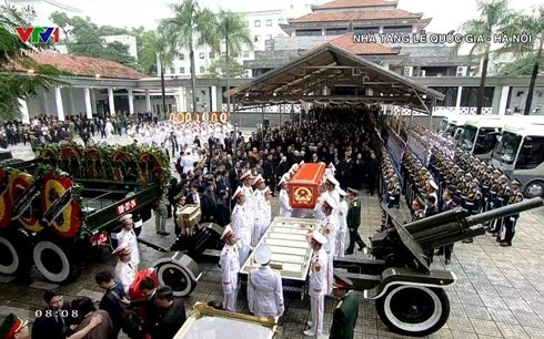 В Ханое прошла церемония прощания с президентом Вьетнама Чан Дай Куангом - ảnh 1