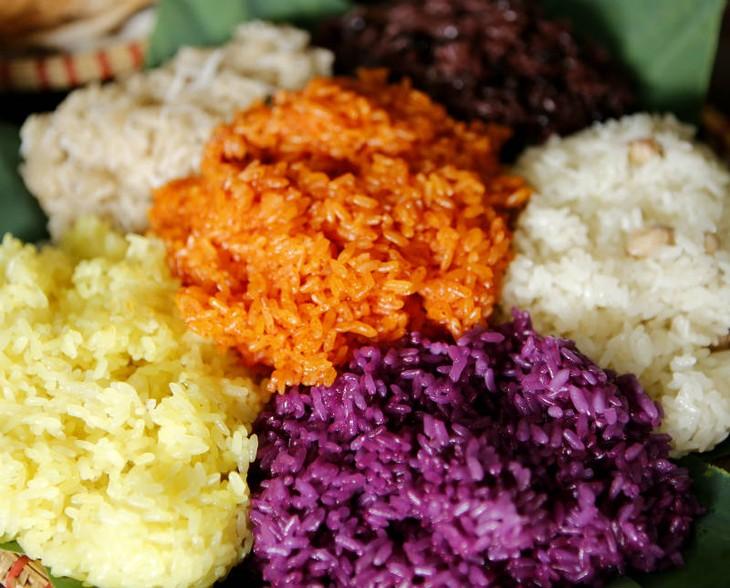 Клейкий рис деревни Футхыонг – специфическое блюдо города Ханоя - ảnh 1