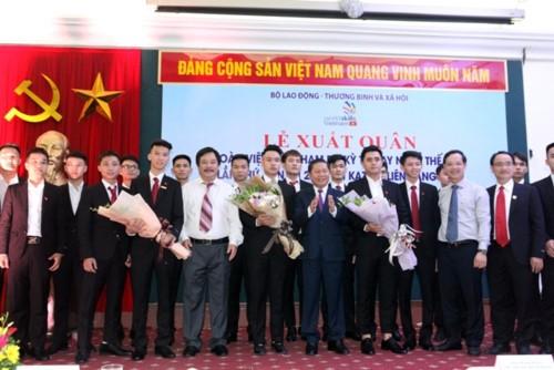 Церемония проводов команды Вьетнама на 45-й чемпионат мира по профессиональному мастерству - ảnh 1
