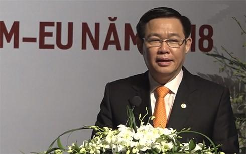 백서 발표 및 2018년의 EU - 베트남 자유무역협정 총괄 발표식 - ảnh 1
