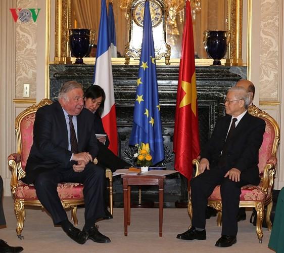 응웬 푸 쩡 (Nguyen Phu Trong) 베트남 총서기장, 프랑스 상원 의장 회견 - ảnh 1