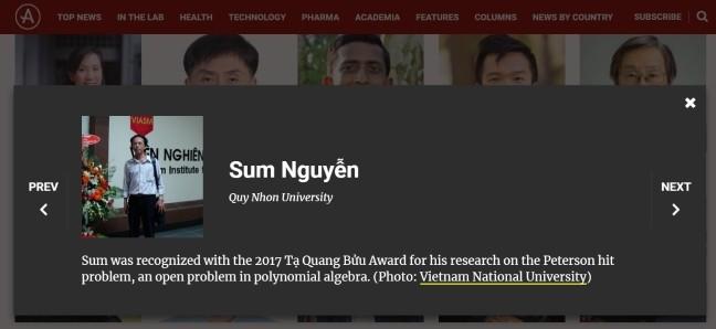 베트남인 2명 아시아 과학자 TOP100에 올라 - ảnh 3