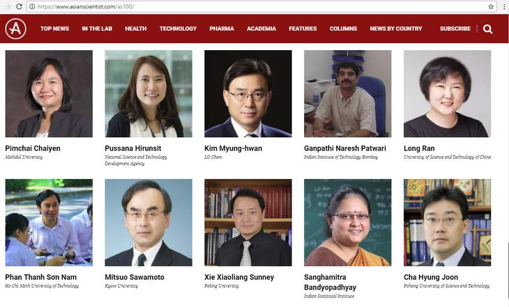베트남인 2명 아시아 과학자 TOP100에 올라 - ảnh 1