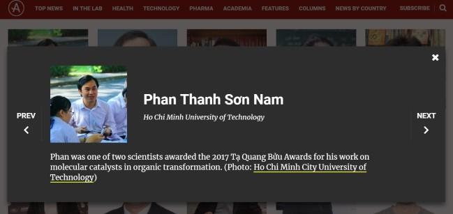 베트남인 2명 아시아 과학자 TOP100에 올라 - ảnh 2