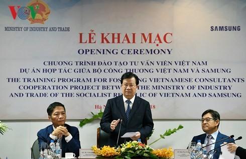 베트남 부총리, 통상부와 베트남 삼성 간 협력 상담원 양성 사업 개막식 참석 - ảnh 1