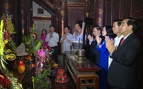 4월 24일 저녁, Dai Co Viet국가 설립 1,050주년 기념식 및 2018년 Hoa Lu축제 진행 - ảnh 1