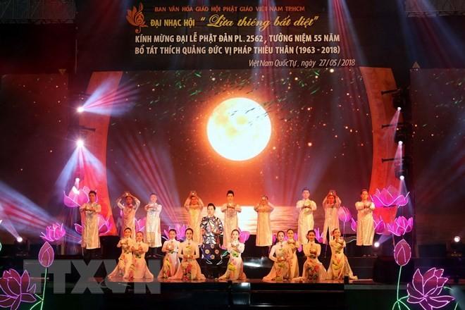 베트남 호치민 시, 불력 2562년 석가탄신을 맞이하여 다양한 활동 이어져 - ảnh 1