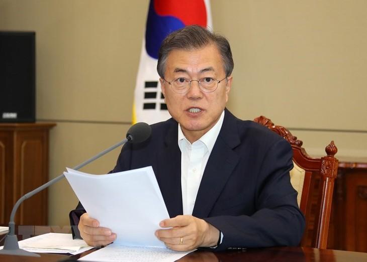 한국, 조미정상회담이 성공적 일 것으로 기대 - ảnh 1
