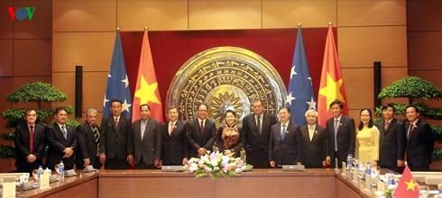 베트남 국회 의장, 미크로네시아 연방 의 국회의장과 회담 - ảnh 1