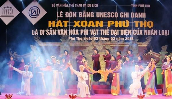 Phu Tho, 무형 문화 유산의 가치들을 보호하고 발휘 - ảnh 2