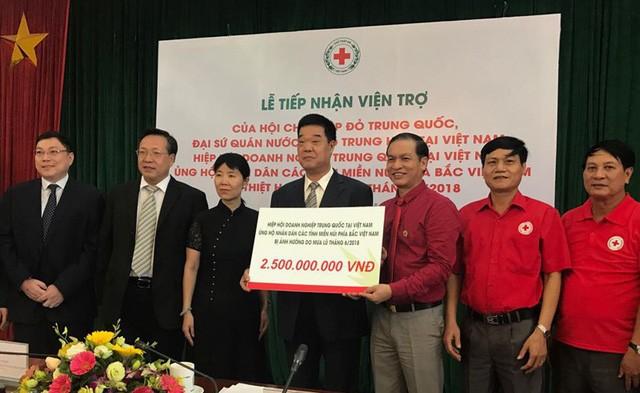 중국 적십자사, 베트남 북부 산악지대 수해자  지원 - ảnh 1