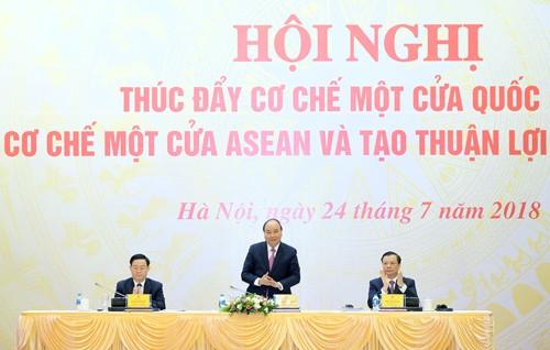 베트남 국무총리, 국가 단일창구 및 아세안 단일창구 촉진 회의 주재 - ảnh 1