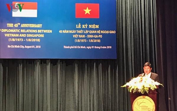 호치민시, 베트남과 싱가포르 간의 외교 관계 수립45 주년 기념행사 진행 - ảnh 1